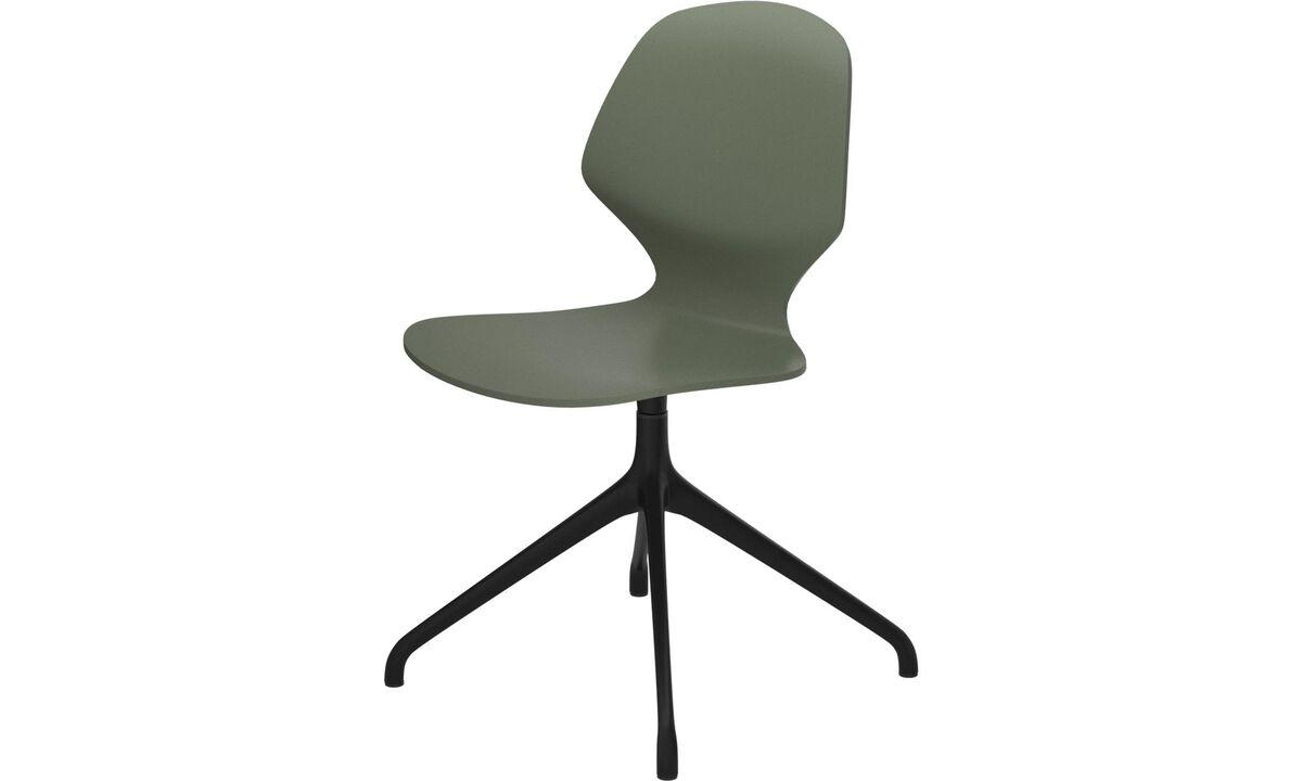 Sillas de comedor - silla Florence con función giratoria - En verde - Laca