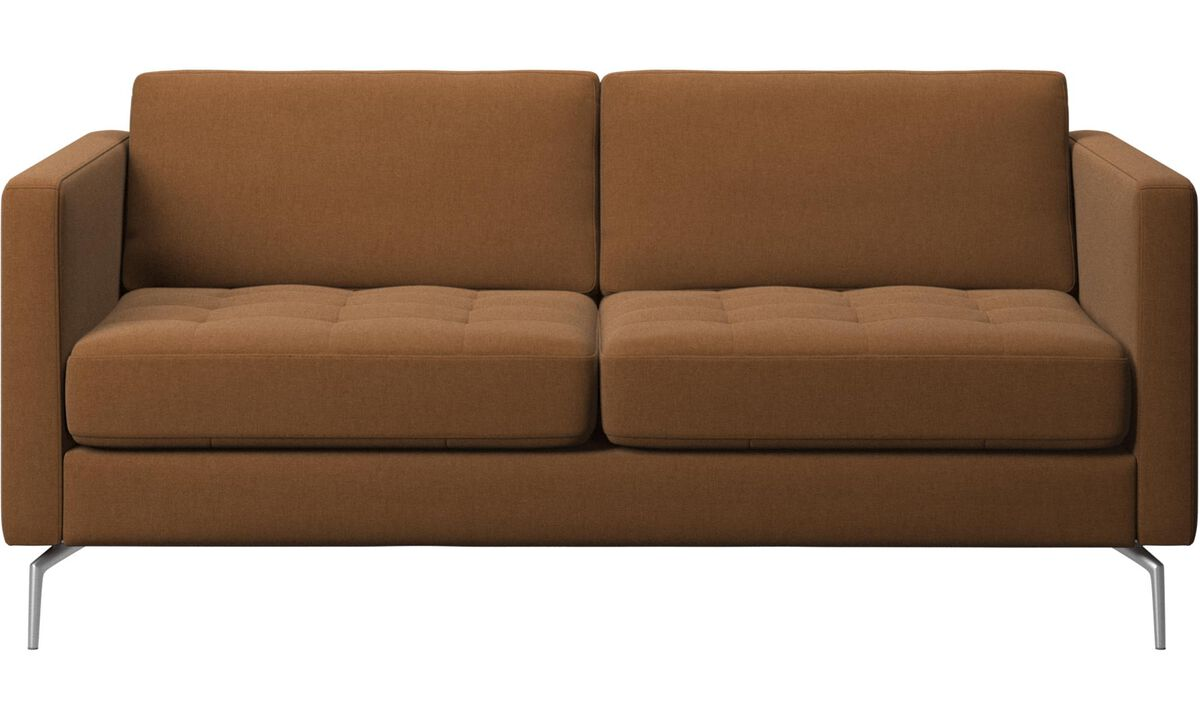 2 seater sofas - Osaka sofa, tufted seat - Brown - Fabric