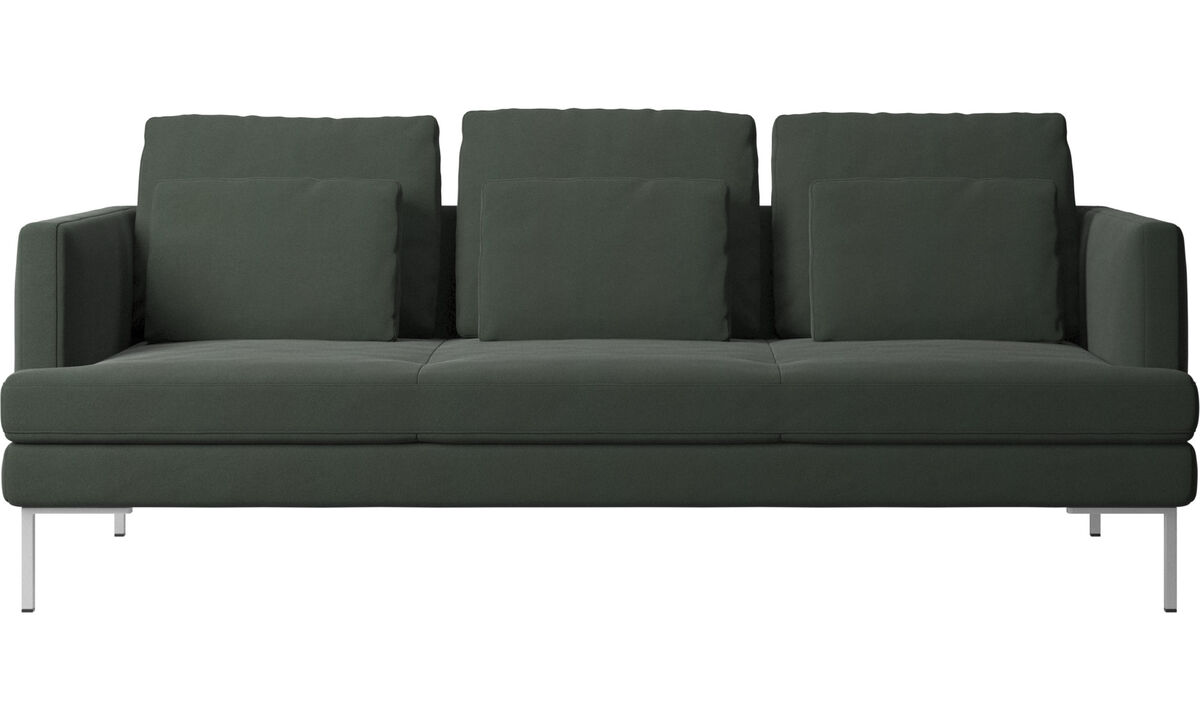 Sofás de 3 lugares - sofá Istra 2 - Verde - Tecido