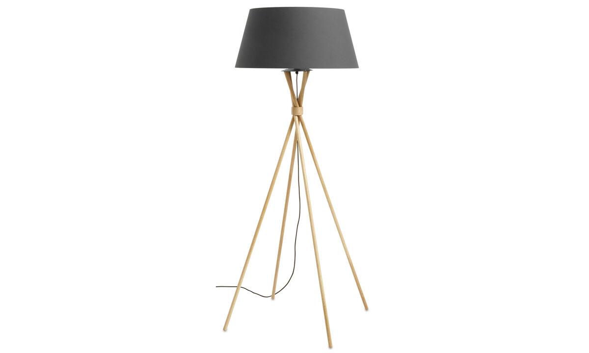 Lampy podłogowe - Lampa podłogowa Main - Brązowy - Dąb