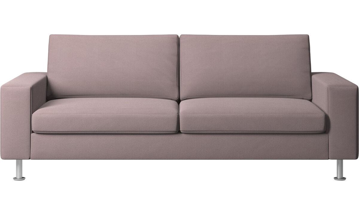Sofy rozkładane - Sofa Indivi z funkcją spania - Purpurowy - Tkanina