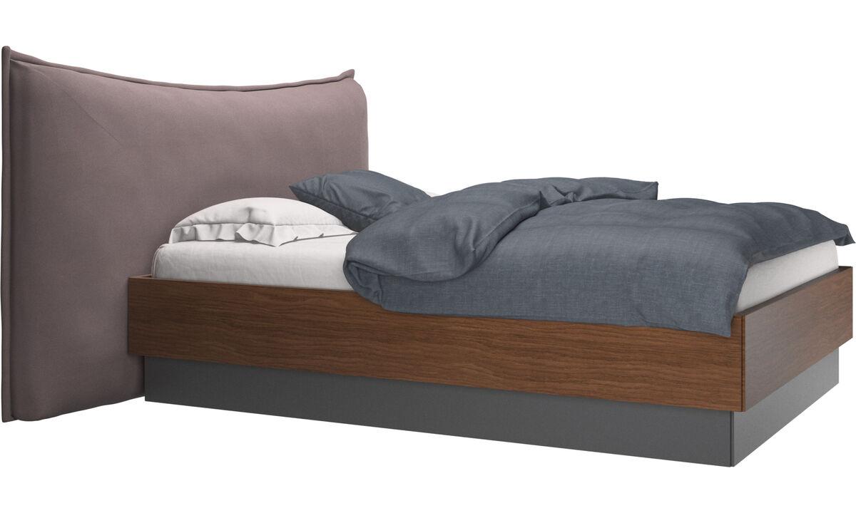 Nuevas camas - Cama con canapé, estructura elevable y tablado, no incluye colchón Gent - Morado - Tela