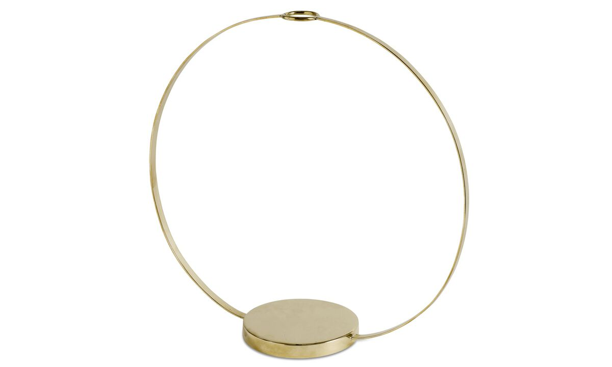 Christmas accessories - Circle sculpture - Yellow - Metal