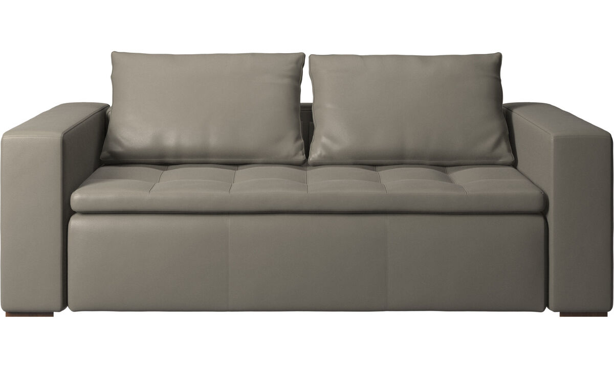 2.5 seater sofas - Mezzo divano - Grigio - Pelle