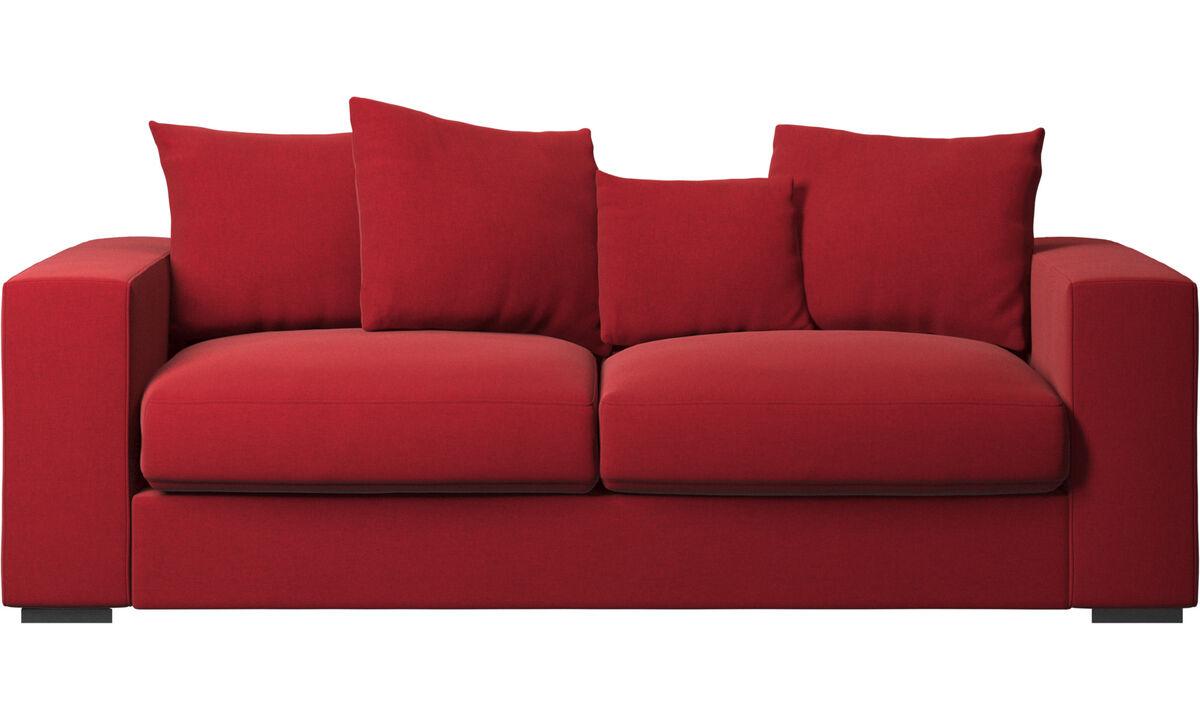 Sofás de 2 lugares e meio - Sofá Cenova - Vermelho - Tecido