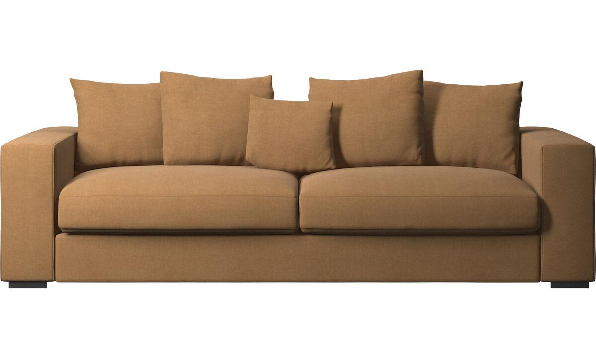 3 seater sofas - Cenova sofa - Brown - Fabric