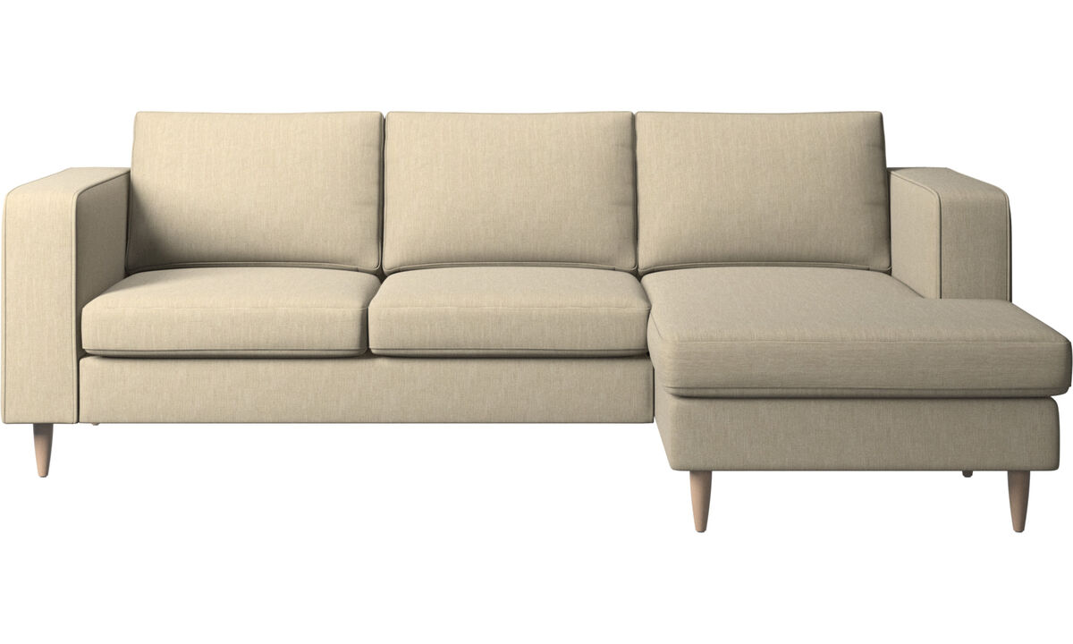 Chaise lounge sofas - Indivi 2 sofa with resting unit - Brown - Fabric