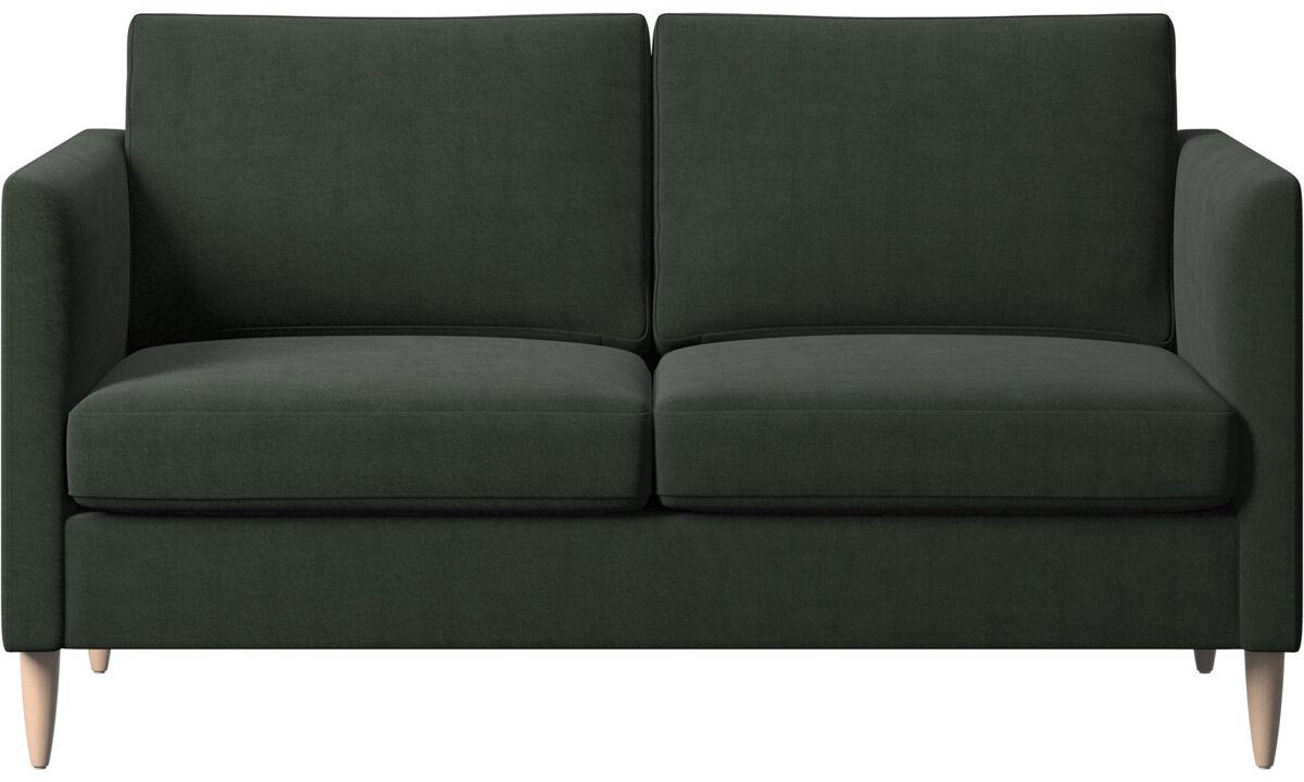 Sofás de 2 lugares - sofá Indivi - Verde - Tecido