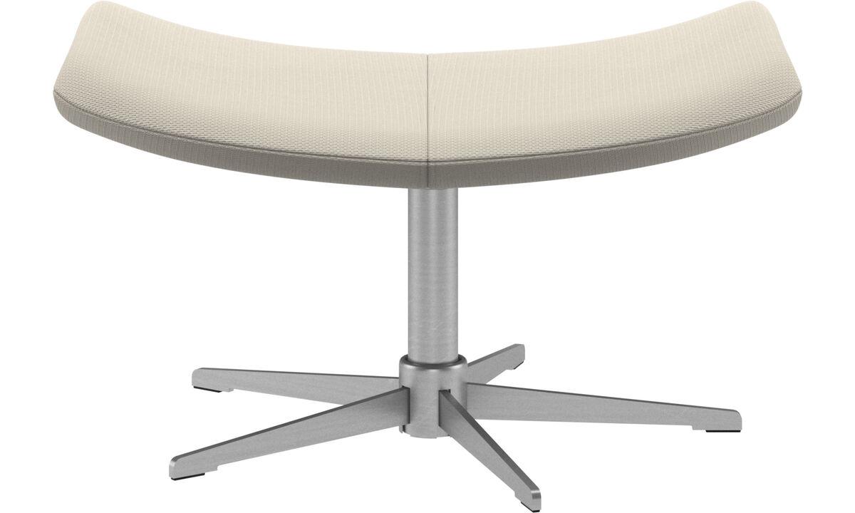Ottomans - Imola footstool - White - Fabric