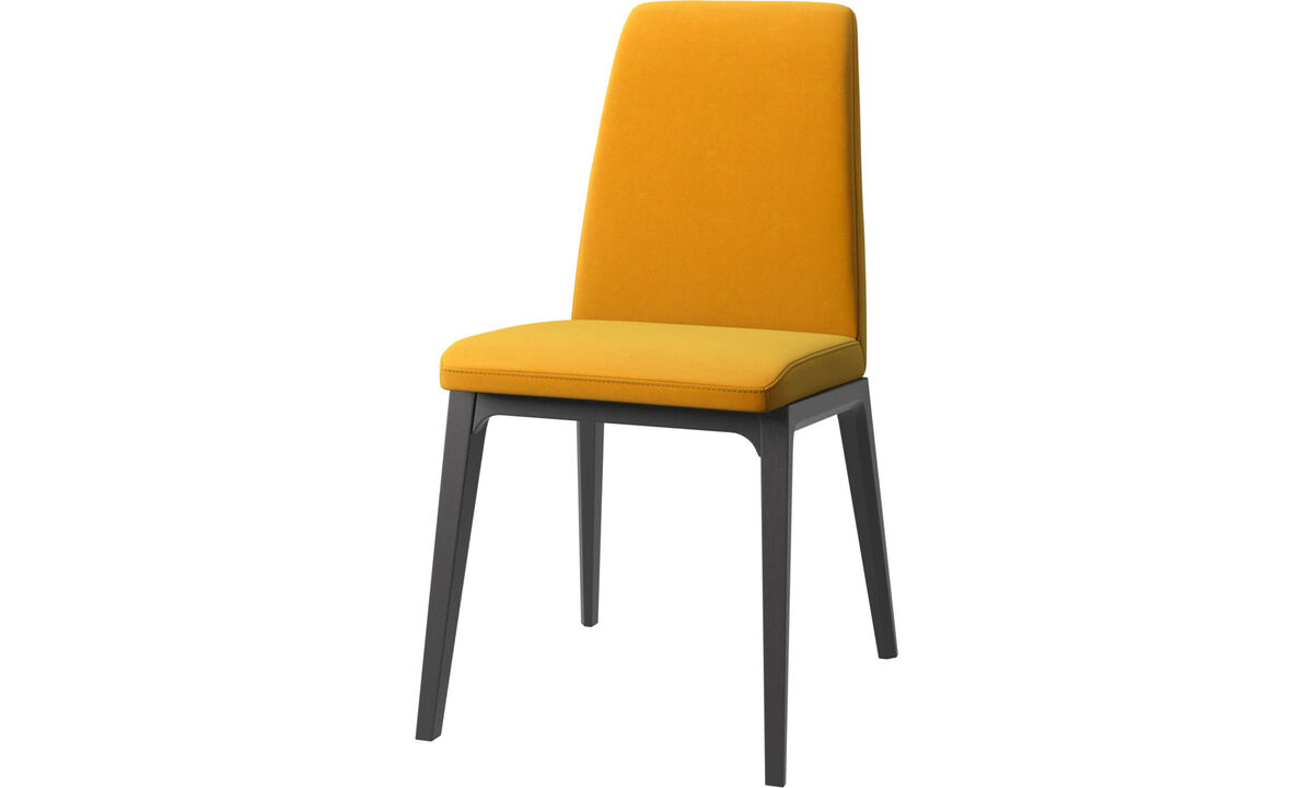 Dining chairs - Lausanne chair - Orange - Fabric