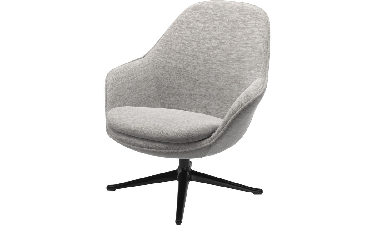 Adelaide living chair - Grey - Fabric