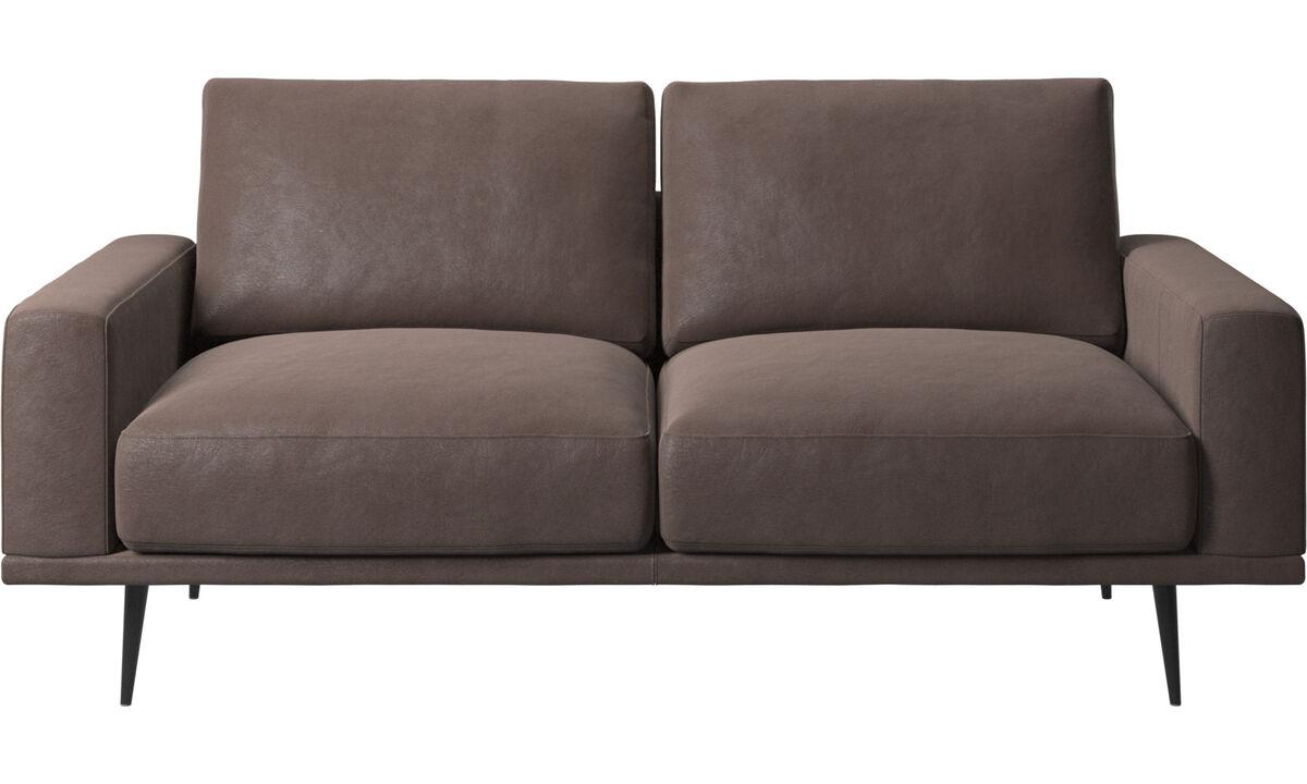 2 seater sofas - Carlton sofa - Brown - Leather