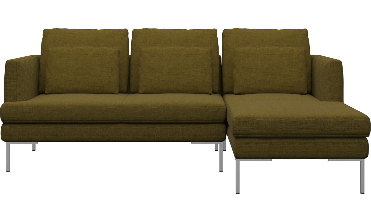 3 seater sofas - Istra 2 sofa with resting unit - Yellow - Fabric