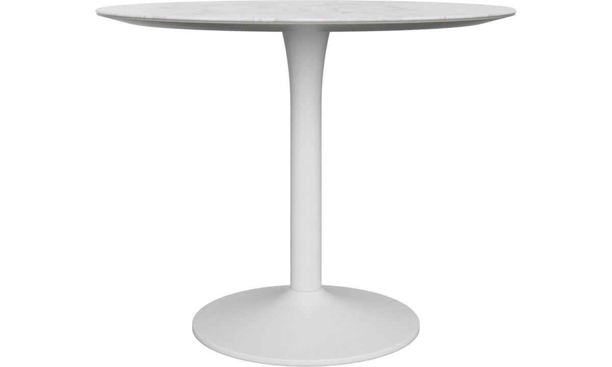 Stoły do jadalni - stół New York - okrągły - Biały - Ceramika