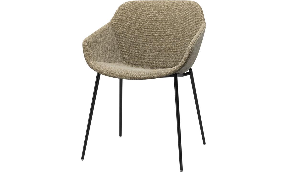 Krzesła do jadalni - fotel Vienna - Żółty - Tkanina