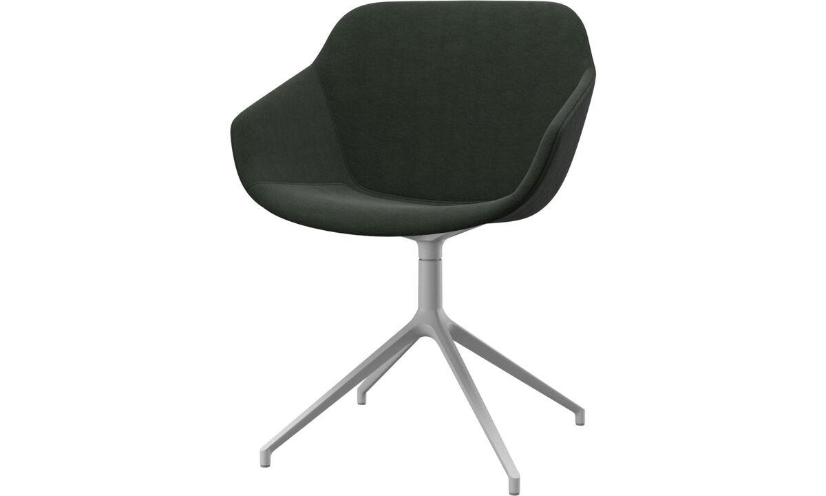 Cadeiras de jantar - cadeira Vienna giratória - Verde - Tecido