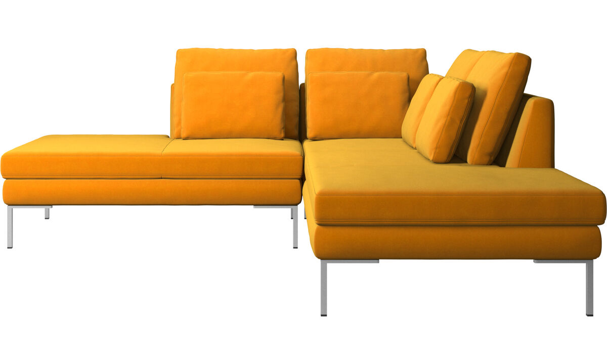 Sofas with open end - Istra 2 sofa with lounging unit - Orange - Fabric
