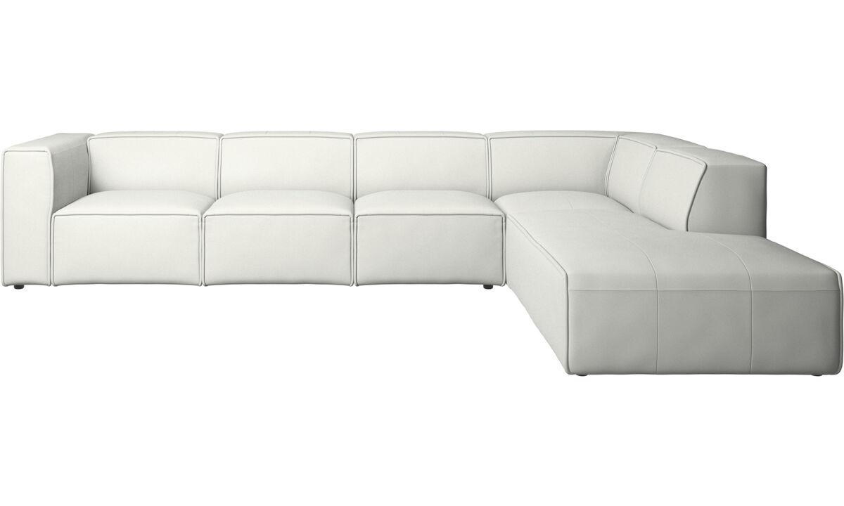 Modular sofas - Carmo corner sofa - White - Leather