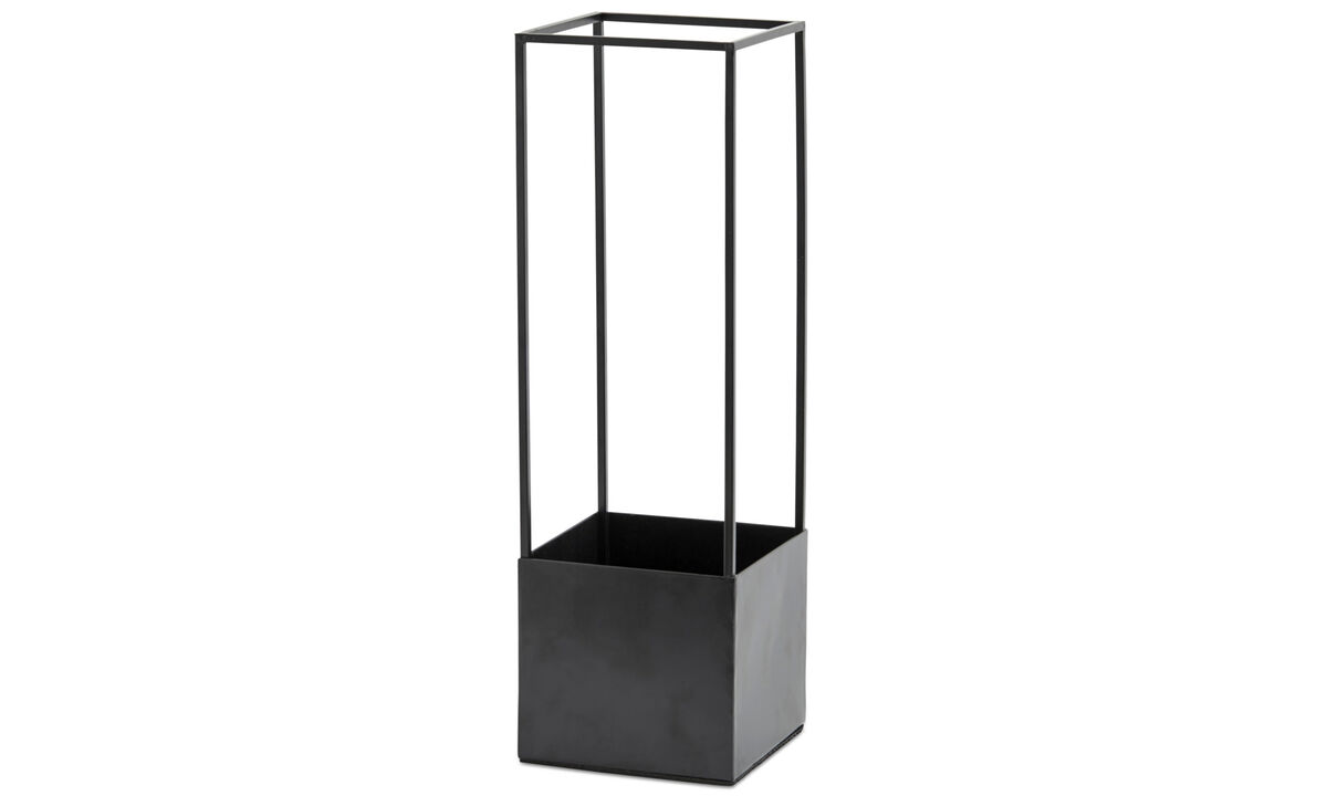 Hallway furniture - Stand for umbrella - Black - Metal