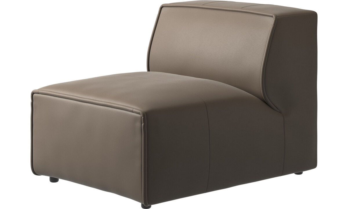Modular sofas - Carmo chair/basic unit - Gray - Leather