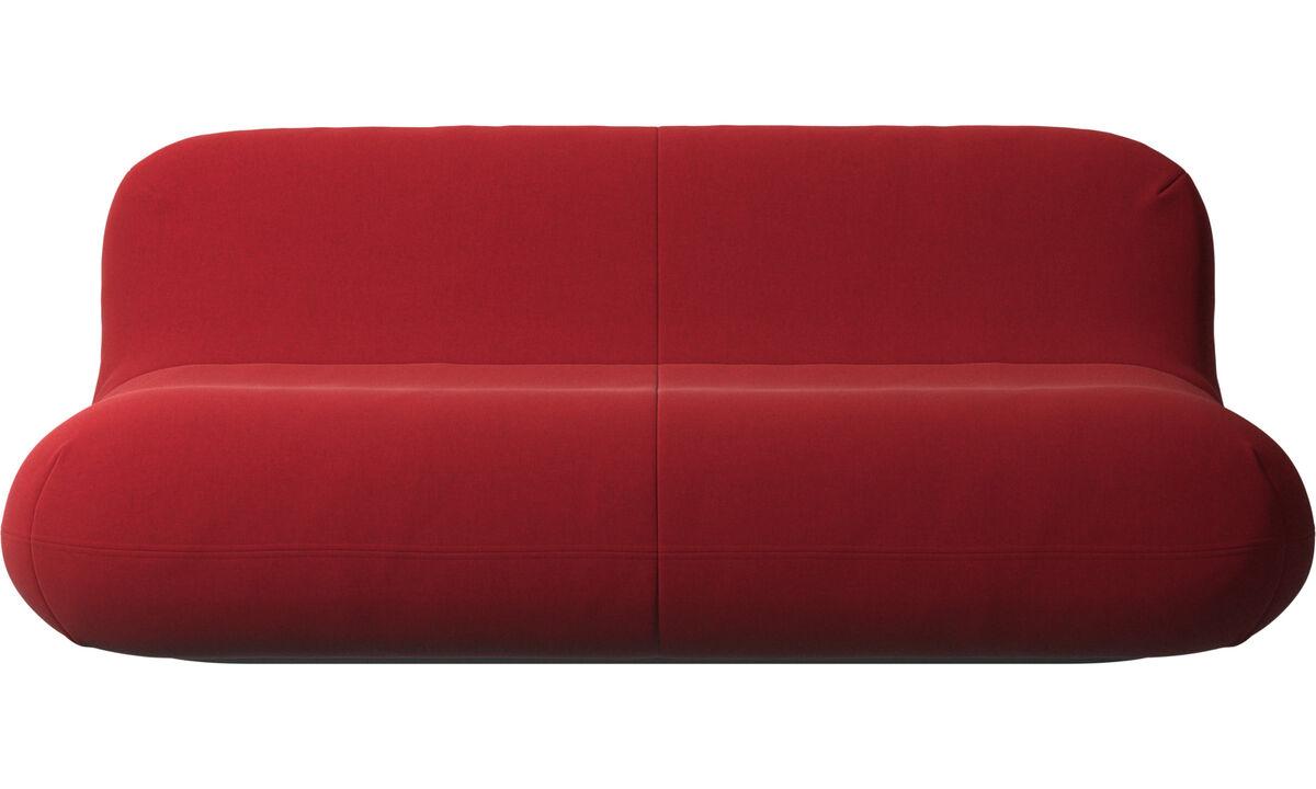 Sofás de 2 lugares e meio - sofa Chelsea - Vermelho - Tecido