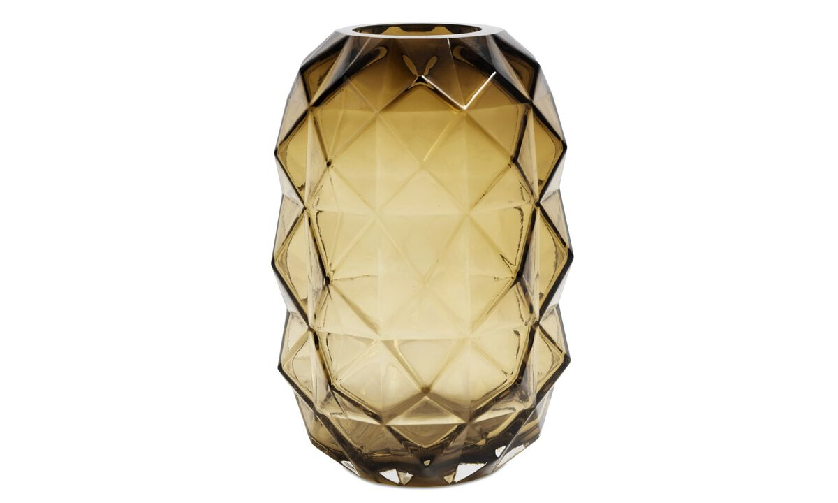 Vaser - Diamond vase - Oransje - Glass