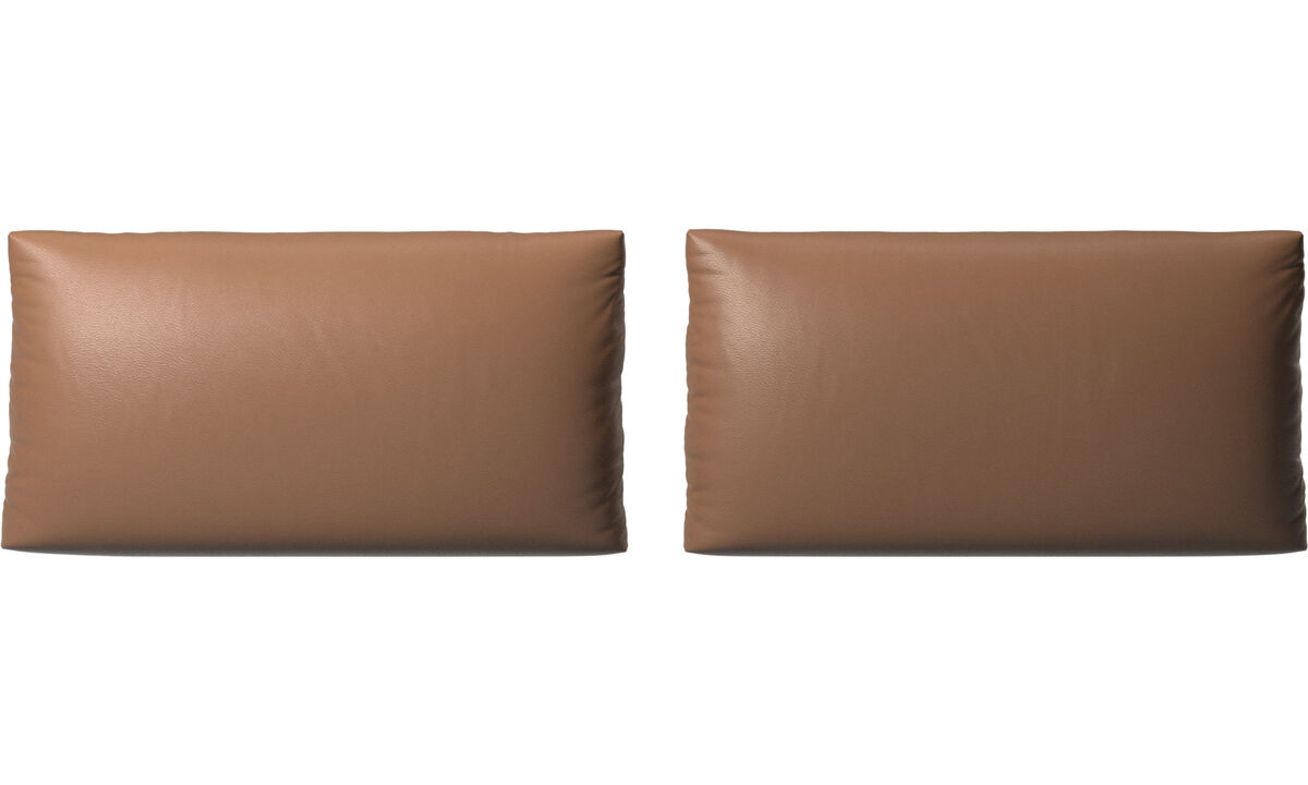 Furniture accessories - Nantes sofa cushions - Brown - Leather