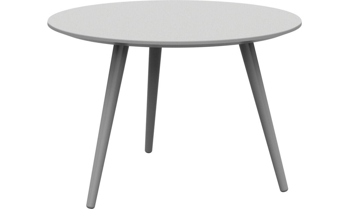 Tables de chevet - Table basse Bornholm - rotonde - Blanc - Laqué