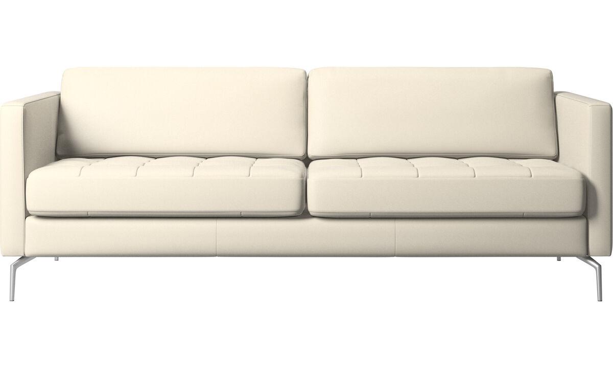 2.5 seater sofas - Osaka sofa, tufted seat - White - Leather