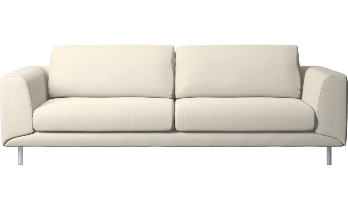 3 seater sofas - Fargo sofa - White - Fabric