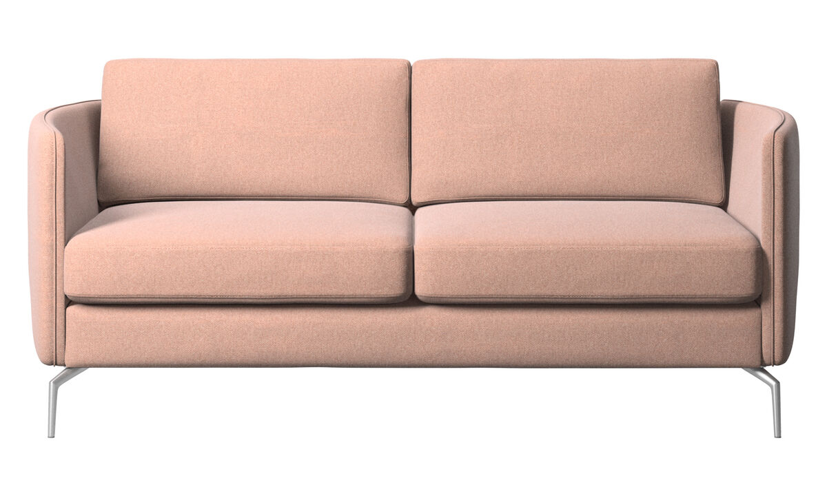 2 seater sofas - Osaka sofa, regular seat - Red - Fabric