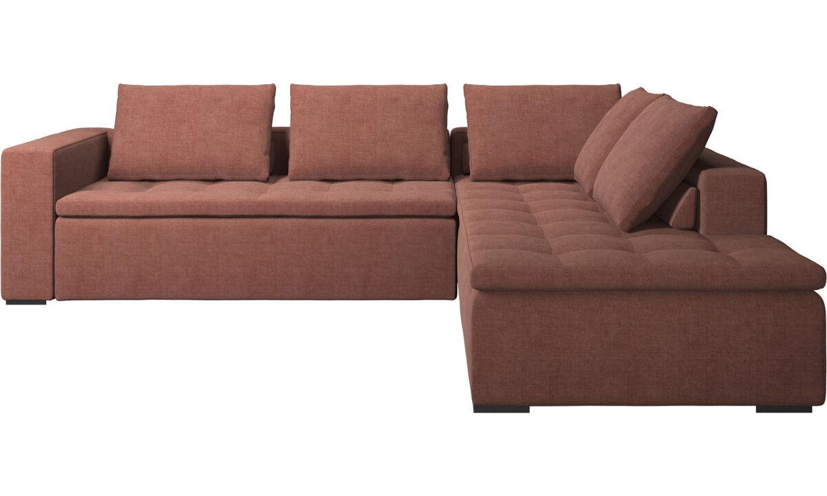 Sofás de canto - sofá de canto Mezzo - Vermelho - Tecido