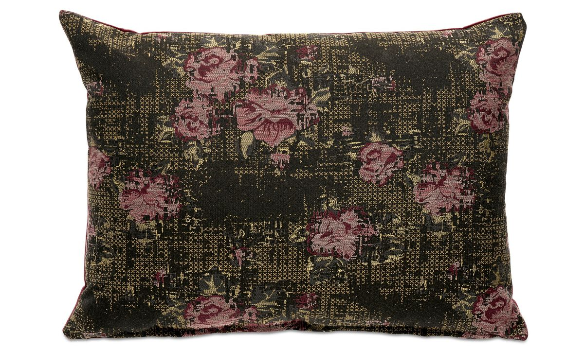 Patterned cushions - Rose cushion - Red - Fabric