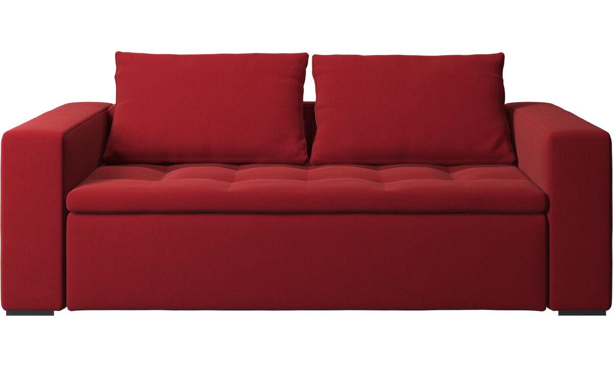 Sofás de 2 lugares e meio - Sofá Mezzo - Vermelho - Tecido