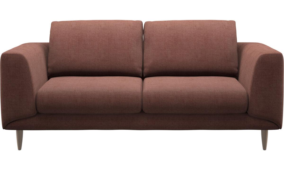 Sofás de 2 plazas - sofá Fargo - Rojo - Tela