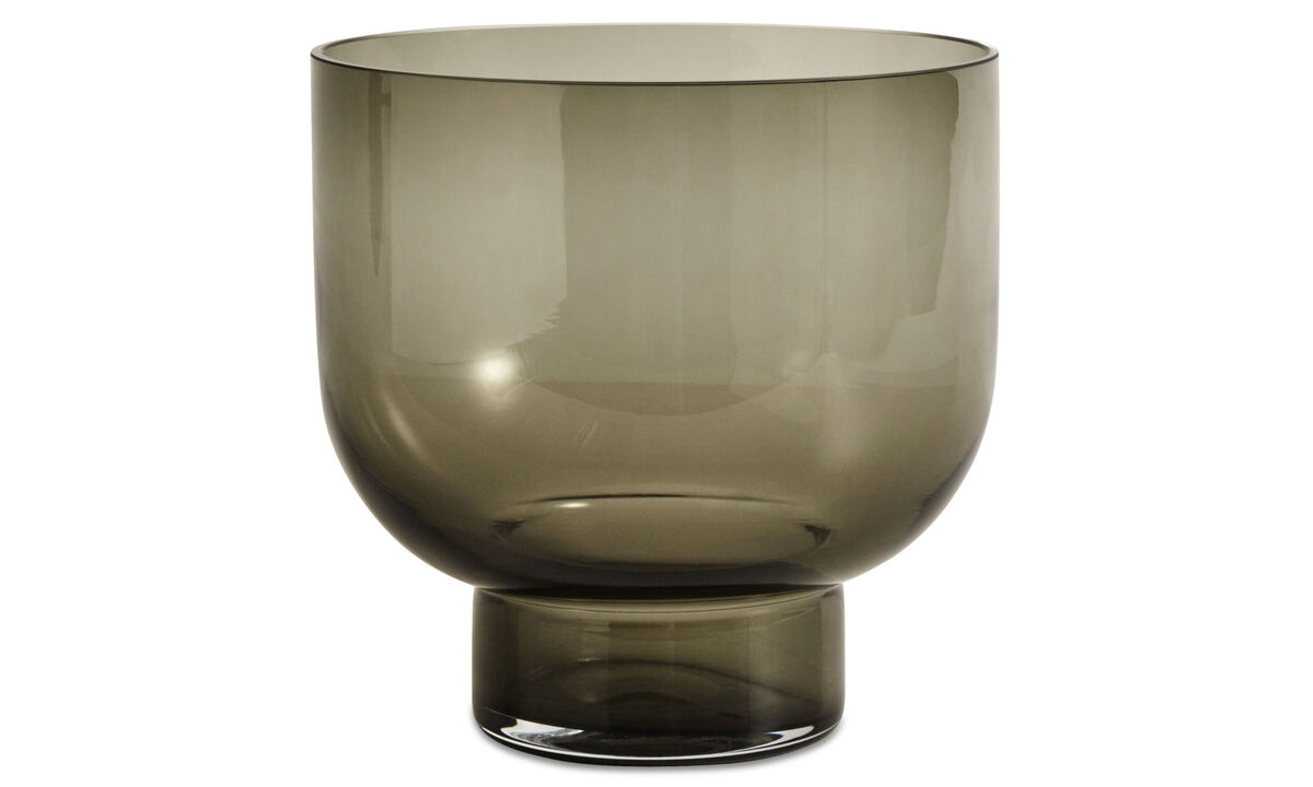Vases - Lucid glass vase - Grey - Glass