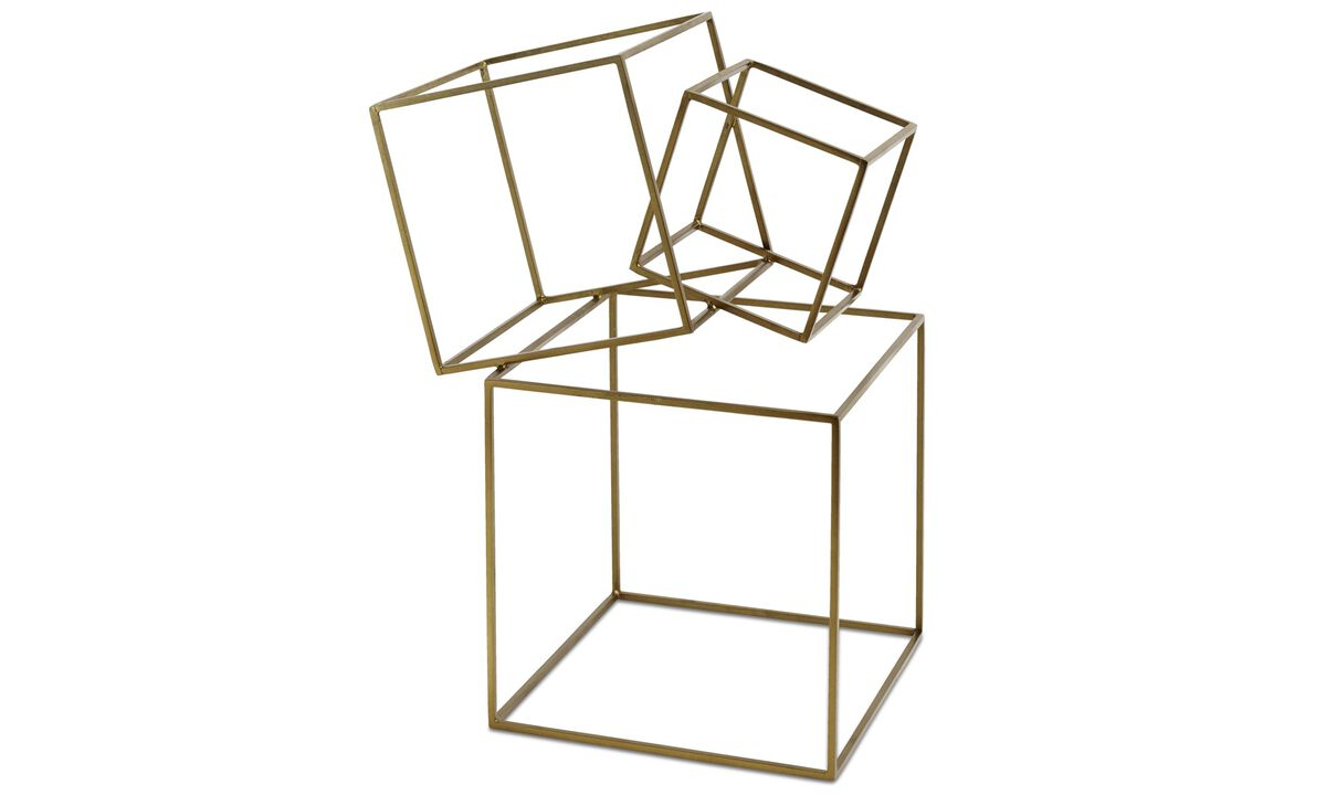New designs - Cubes sculpture - Yellow - Metal