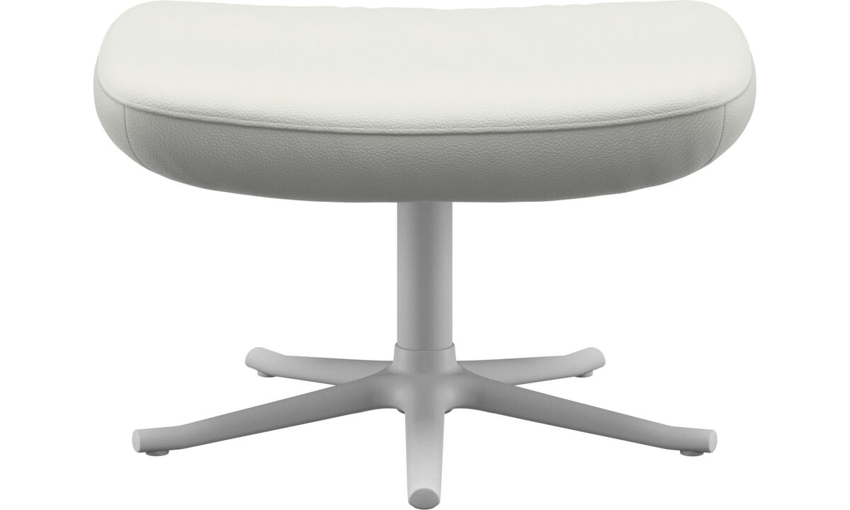 Footstools - Lucca footstool - White - Leather