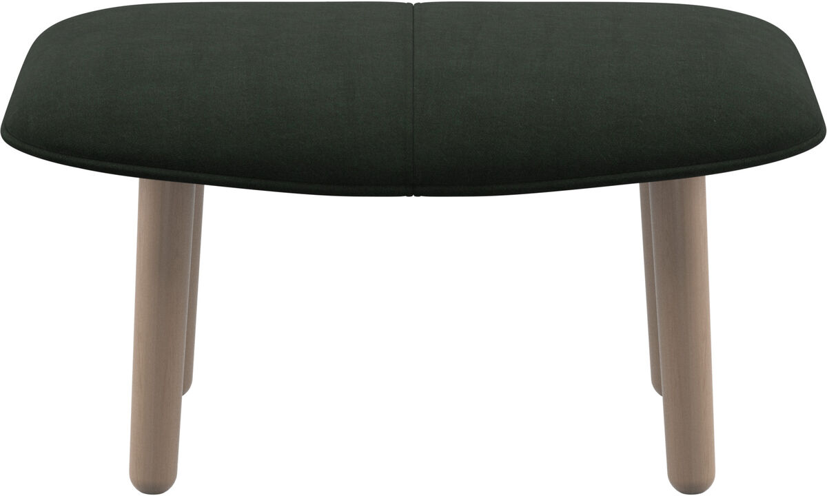 Footstools - fusion footstool - Green - Fabric