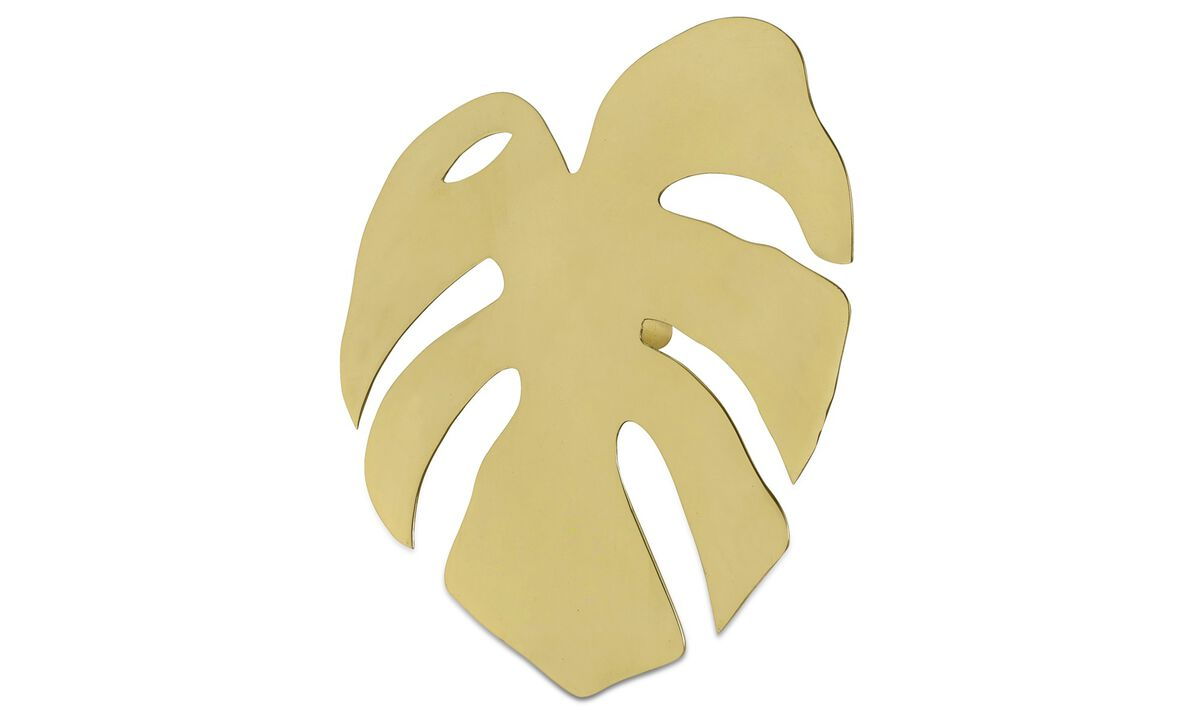 Decoration - Fingerfilodrendon wall decoration - Yellow - Metal