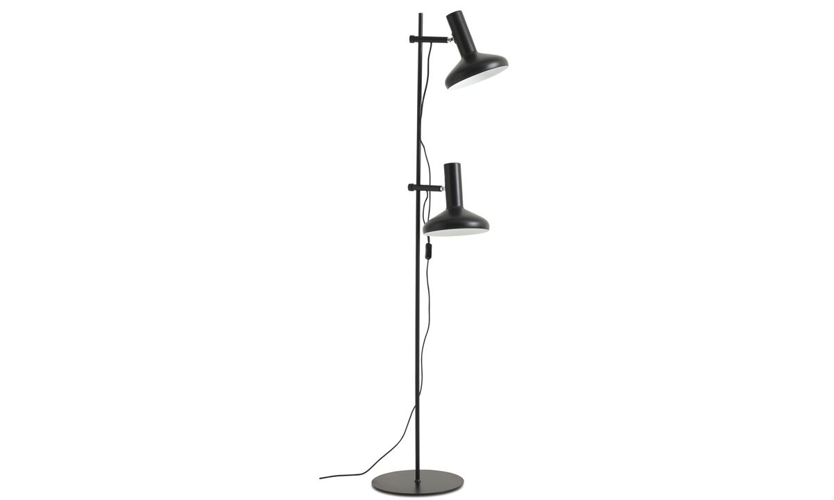 Gulvlamper - Duo gulvlampe - Sort - Metal