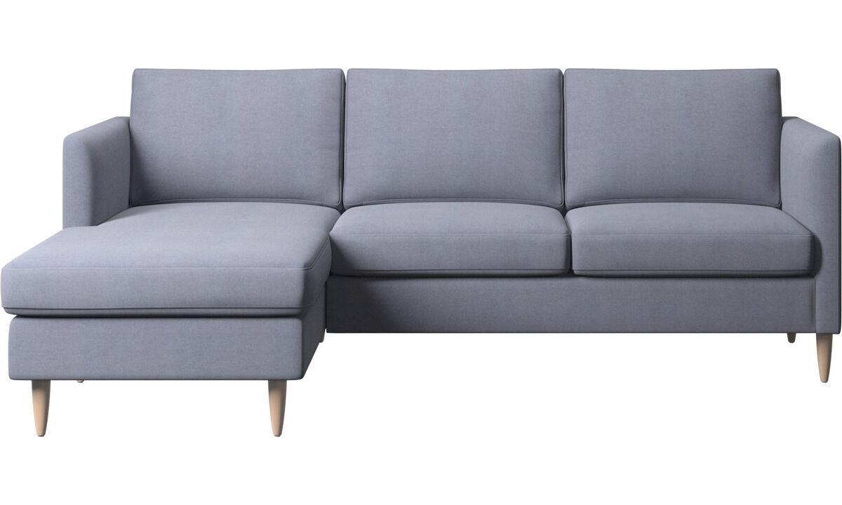 Canapés avec chaise longue - canapé Indivi avec chaise longue - Bleu - Tissu