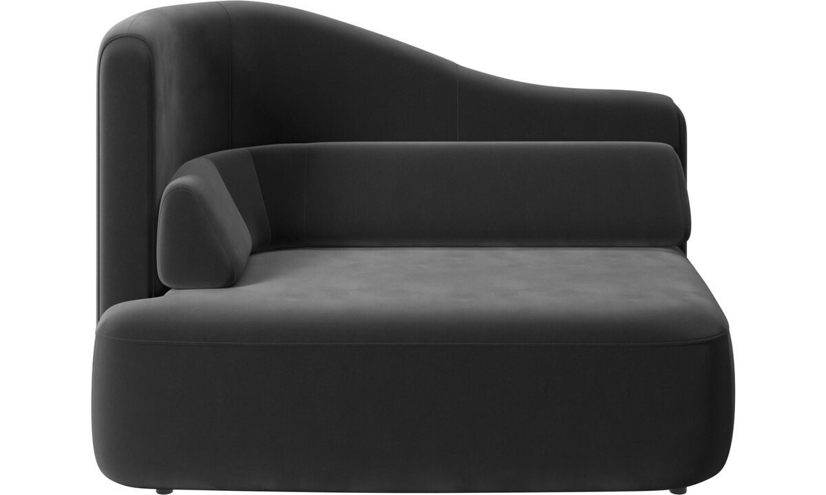 Modular sofas - Ottawa 1,5 seater left arm - Black - Fabric