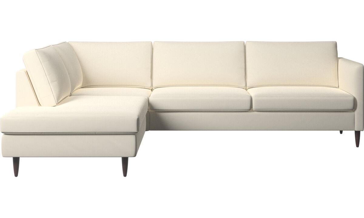 Sofás com canto aberto - sofá de canto Indivi - White - Tecido