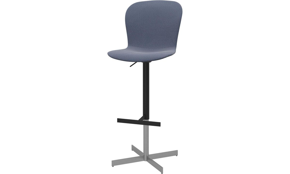 Bar stools - Adelaide barstool with gas cartridge - Blue - Fabric