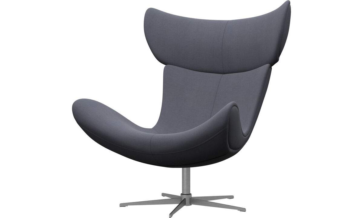 Armchairs - Imola chair with swivel function - Blue - Fabric