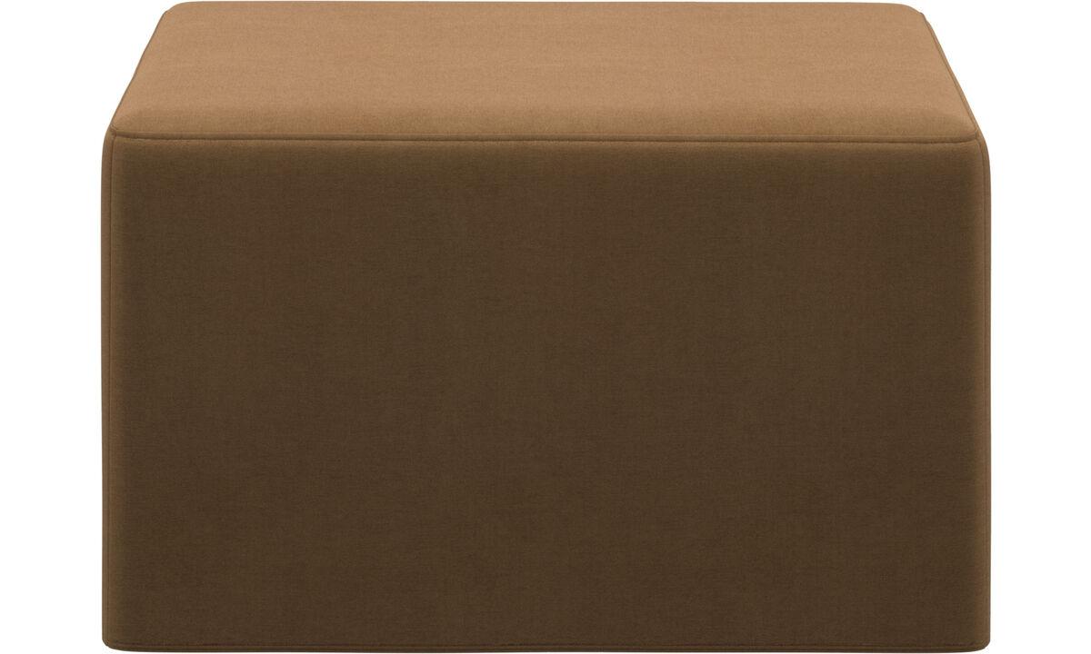 Sofás cama - puf-cama Xtra - En marrón - Tela