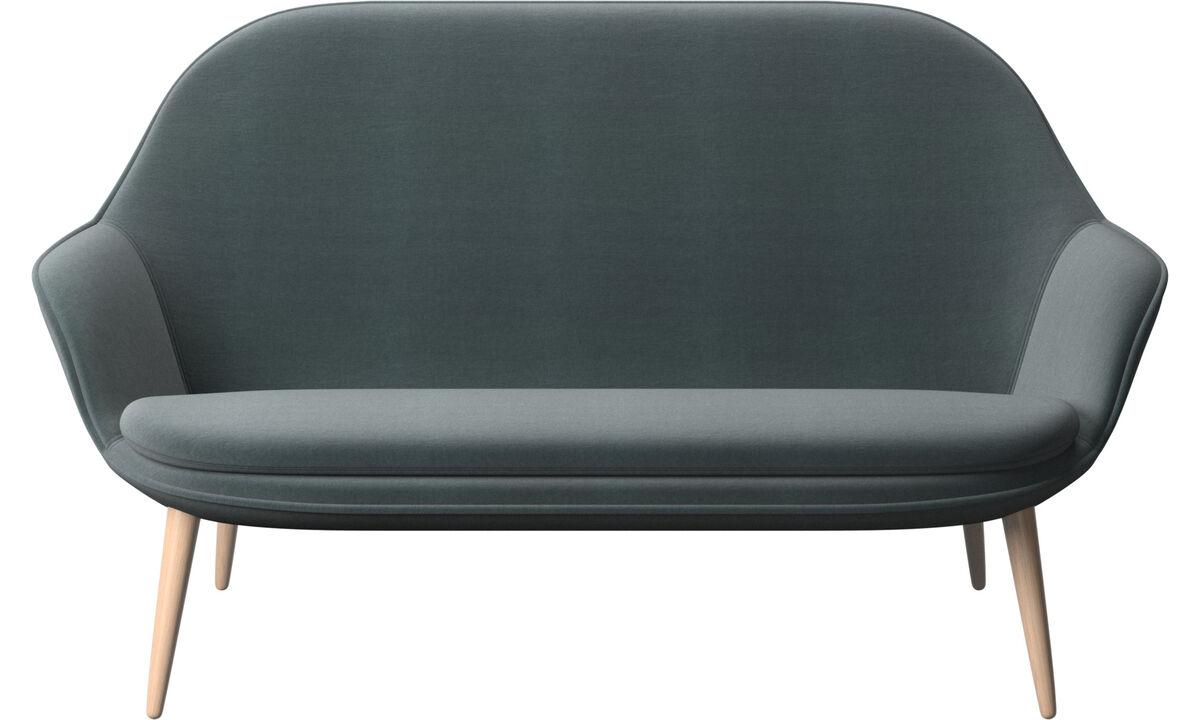 2 seater sofas - Adelaide sofa - Blue - Fabric