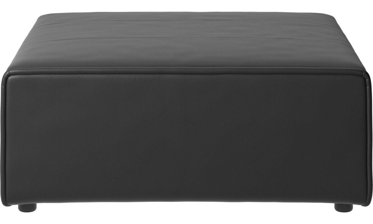 Footstools - Carmo ottoman - Black - Leather