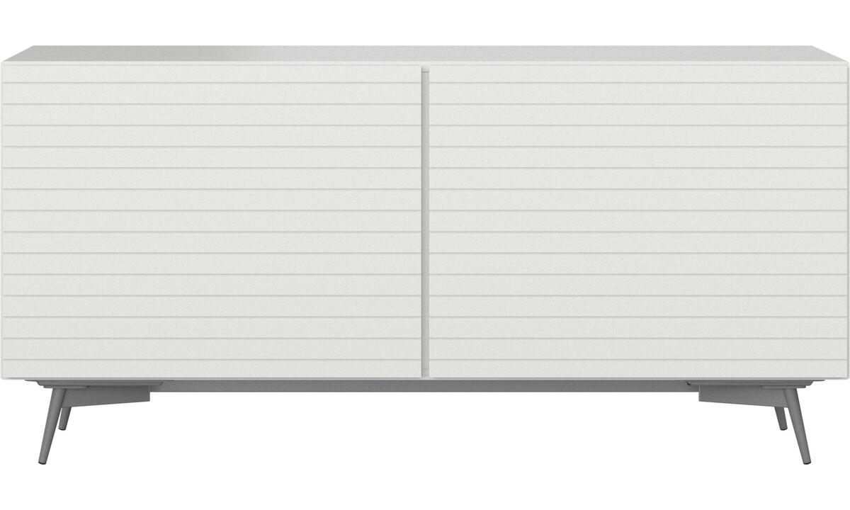 Sideboards - Lugano Sideboard - Weiß - Lack